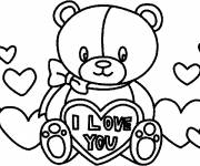 Coloring pages Valentine's Day Plush Gift