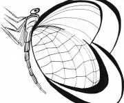 Coloring pages Valentine's Day Stylized Butterfly