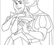 Free coloring and drawings Valentine's Day The Princess in love Coloring page