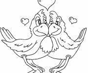 Coloring pages VValentine's Day Animals
