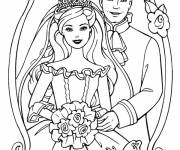 Free coloring and drawings Barbie Wedding Image Coloring page