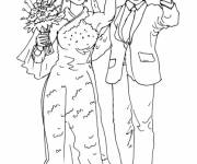 Free coloring and drawings Color married couple Coloring page