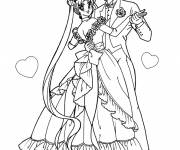Free coloring and drawings Couple dancing Wedding Coloring page