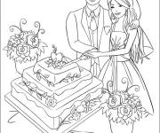 Free coloring and drawings Disney Wedding Coloring page