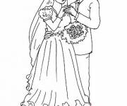 Free coloring and drawings Easy Adult Marriage Coloring page