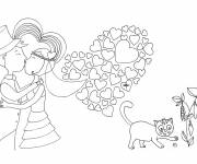 Free coloring and drawings Marriage and Love Coloring page