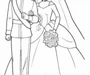 Free coloring and drawings Prince wedding Coloring page