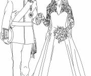 Coloring pages Royal wedding