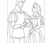 Coloring pages Stylized wedding