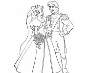 Free coloring and drawings The Princess Wedding Coloring page