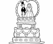 Free coloring and drawings Wedding cake Coloring page