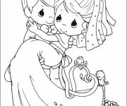 Free coloring and drawings Wedding coloring Coloring page