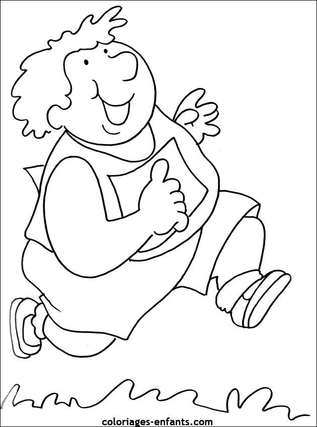 Free coloring and drawings A big athlete Coloring page