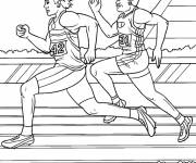 Coloring pages Athletics