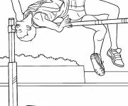Free coloring and drawings Color athletics Coloring page