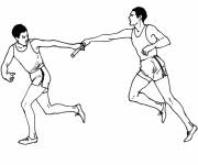 Free coloring and drawings Relay race Coloring page