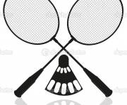 Coloring pages Badminton and Equipment