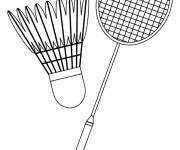 Coloring pages Badminton equipment