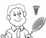 Coloring pages Badminton for children