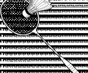 Free coloring and drawings Badminton racket Coloring page