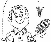 Coloring pages Badminton racket and shuttlecock