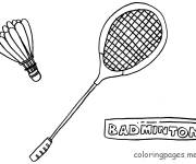 Coloring pages Badminton Racket and Shuttlecock in black