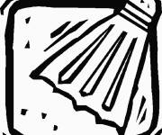 Coloring pages Badminton shuttlecock vector