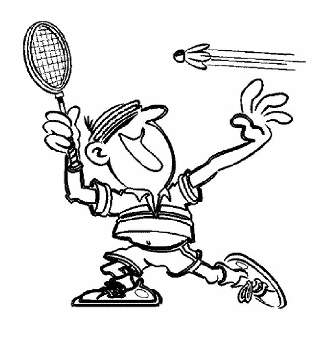 Free coloring and drawings Badminton sport Coloring page