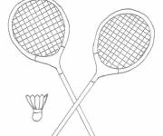 Coloring pages Easy Badminton equipment