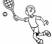 Coloring pages Funny tennis player