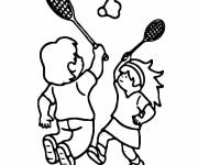 Coloring pages Maternal Badminton Sport
