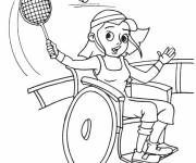 Coloring pages Paralympic Badminton