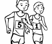 Coloring pages Runners