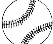 Coloring pages A baseball