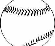 Free coloring and drawings Baseball ball in black Coloring page