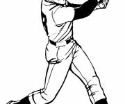 Coloring pages Baseball pitcher to color