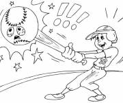 Free coloring and drawings Hitter and Unhappy Ball Coloring page