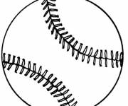 Free coloring and drawings Stylized baseball Coloring page