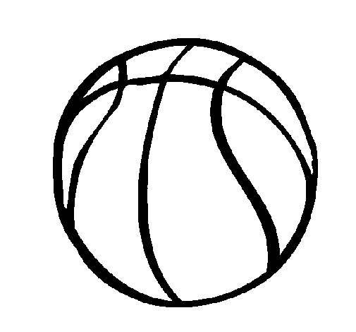 Free coloring and drawings A ball in black and white Coloring page