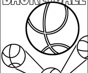 Coloring pages Basket simple