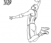 Free coloring and drawings Basketball Dunk Coloring page