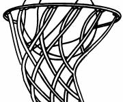 Free coloring and drawings Basketball in the Panel Coloring page