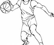 Free coloring and drawings Basketball player Coloring page