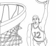Free coloring and drawings Basketball Sign Coloring page