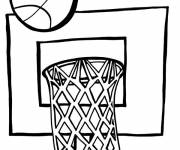 Coloring pages Basketball sign for kids