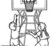 Free coloring and drawings Child basketball Coloring page