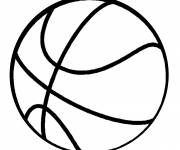 Free coloring and drawings Color basketball Coloring page