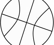 Free coloring and drawings Easy Basketball Coloring page