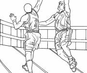 Free coloring and drawings Maternal basketball Coloring page