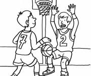 Coloring pages Maternal basketball to cut out